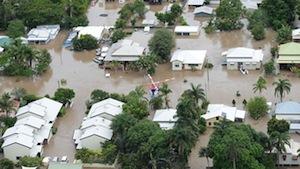 クイーズランド州の洪水地帯