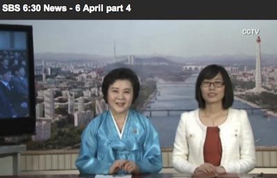 北朝鮮のアナウンサー