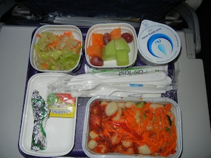 ベジタリアンの機内食