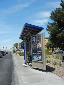 ラスベガスのバス停