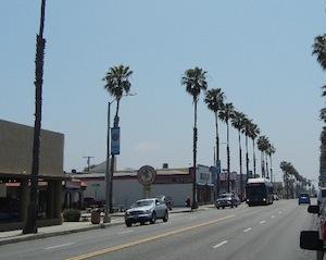 南カルフォルニアの街並み