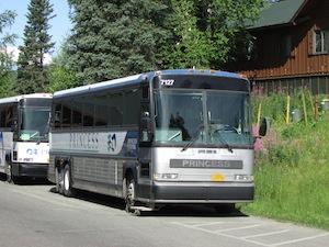 ロッジ観光を運行するバス
