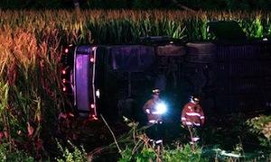 グレイハウンドバス事故 by AP