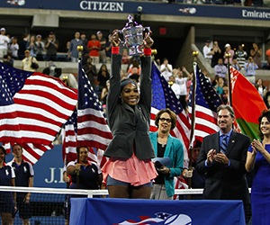 女子シングルス優勝したセリーナ選手 by US Open HP