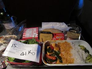 カンタスの機内食