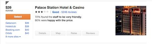 パレスステーションホテル@ラスベガスの料金(税金込み)