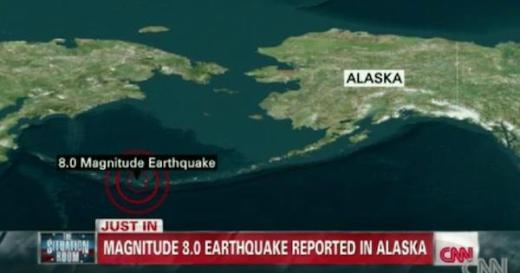 アラスカ地震情報 by CNN