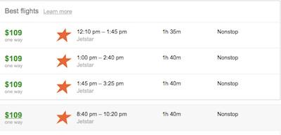 ブリスベンからシドニー行きの航空券