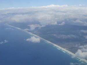 空から見たブリスベンのコーストライン