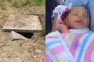 発見された赤ちゃんと捨てられていた場所