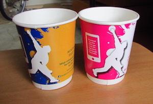 クリケットの試合の時に利用したコーヒーカップ
