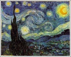 ゴッホの絵『星月夜』