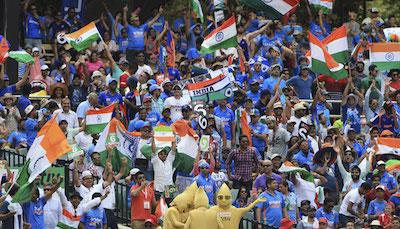 インド人の応援団 セミファイナル@SCG