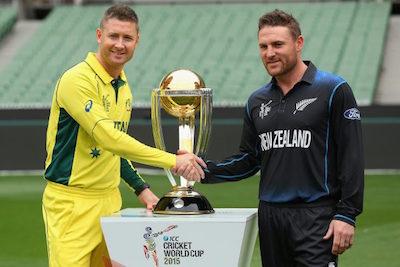 クリケット決勝戦 オーストラリア対NZ