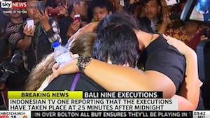 インドネシアのテレビで放送された『死刑執行の瞬間』
