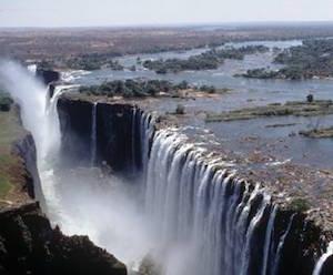 アフリカ一の観光地 ビクトリア滝