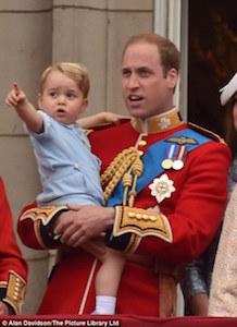 ウィリアム王子とジョージ王子 2015年