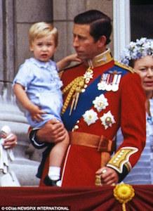 チャールズ王子とウィリアム王子 1984年