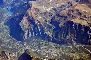 ツルードフランスのルート(上空から)