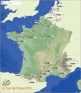 ツルードフランス2015のルート