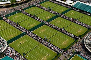 ウィンブルドンのテニスコート
