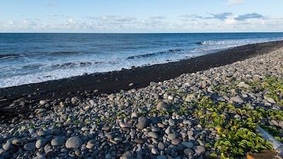 機体の残骸が発見されたレユニオンの海岸線