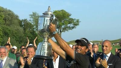 全米プロゴルフ選手権で優勝したデイ選手