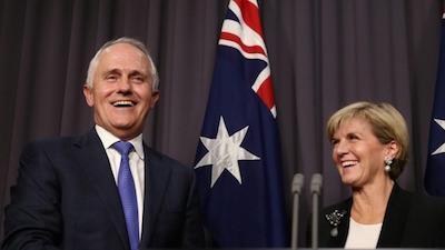 タンブル首相とビショップ副首相 by ABC News