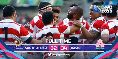勝利を喜ぶ日本チーム
