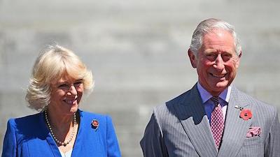 チャールズ皇太子とカメラ夫人
