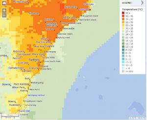 シドニーの気温表
