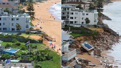 コラロイのビーチ沿いにある住宅