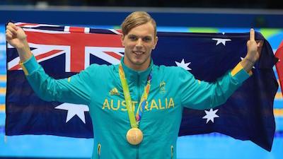 男子100m自由形で優勝したチャルマーズ選手