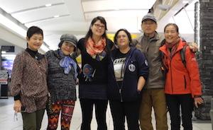 43年ぶりに再開したご家族と@カルガリー空港にて