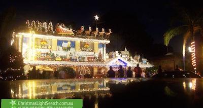 クリスマスライトで飾られた家@シドニー