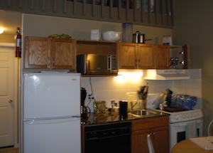 部屋の中にあったキッチン