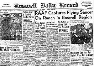 ロスウェル事件を伝える新聞 by wiki